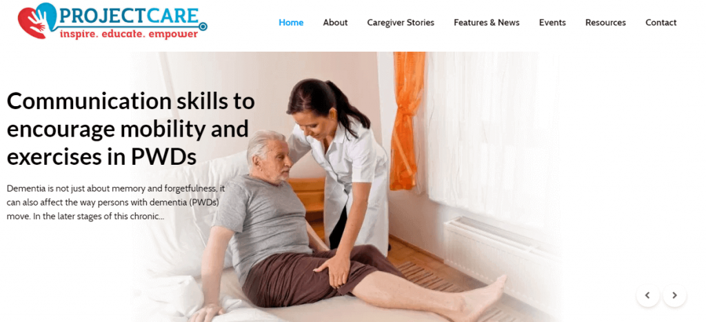 ProjectCare shares caregiver stories, tips and tricks and resources like How to videos. Its a resource for seniors.